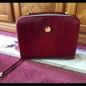 Estee Lauder make up or travel bag maroonish red